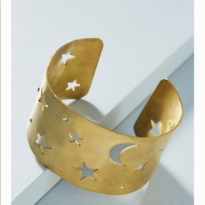 Anthropologie Moon and Stars Cuff